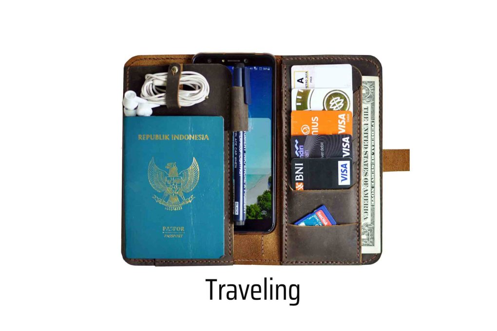 walklo leather - wallet, organizer, and bag for traveling