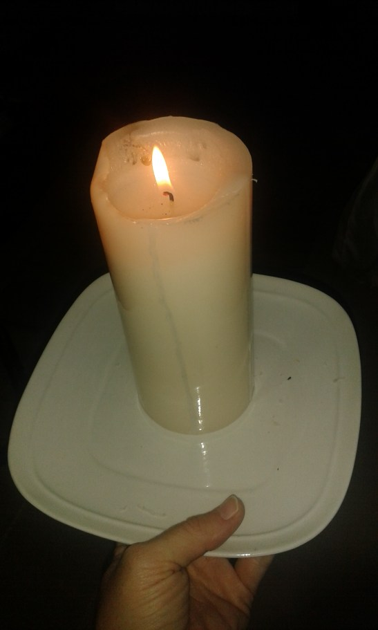 Running water and candles during load shedding!