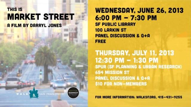 This Is Market Street Film Screening Flyer - Film by Darryl Jones