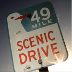 49 mile seagull street sign