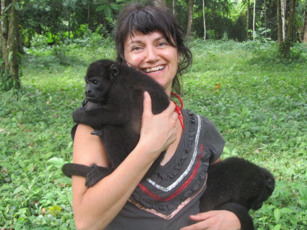Rescued howler monkey