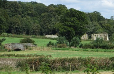 The ruins of the Cistercian Abbey at Sibton