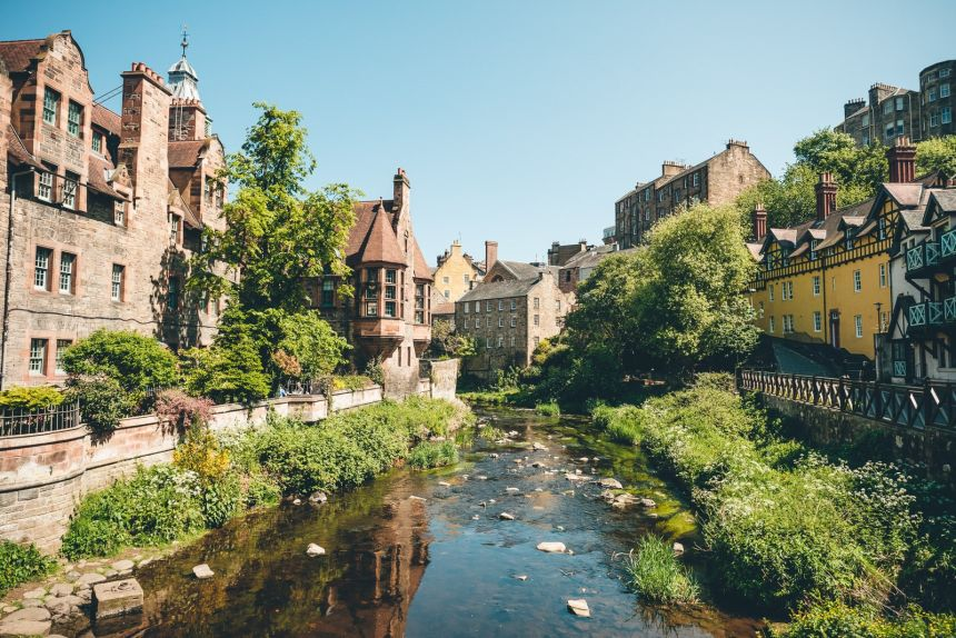 Edinburgh Dean Village Waterway