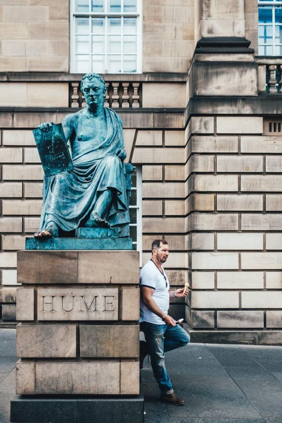 Edinburgh Hume Statue