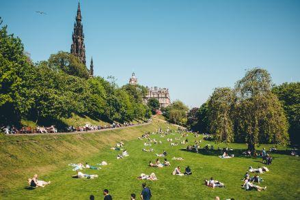 Edinburgh Princes Street Gardens Spire Picnic