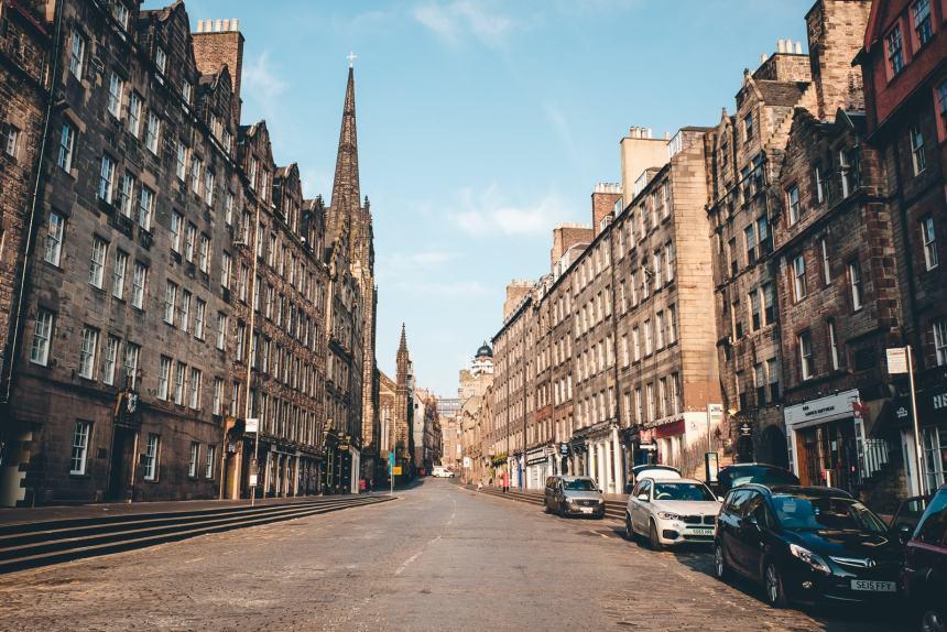 Edinburgh Royal Mile Morning