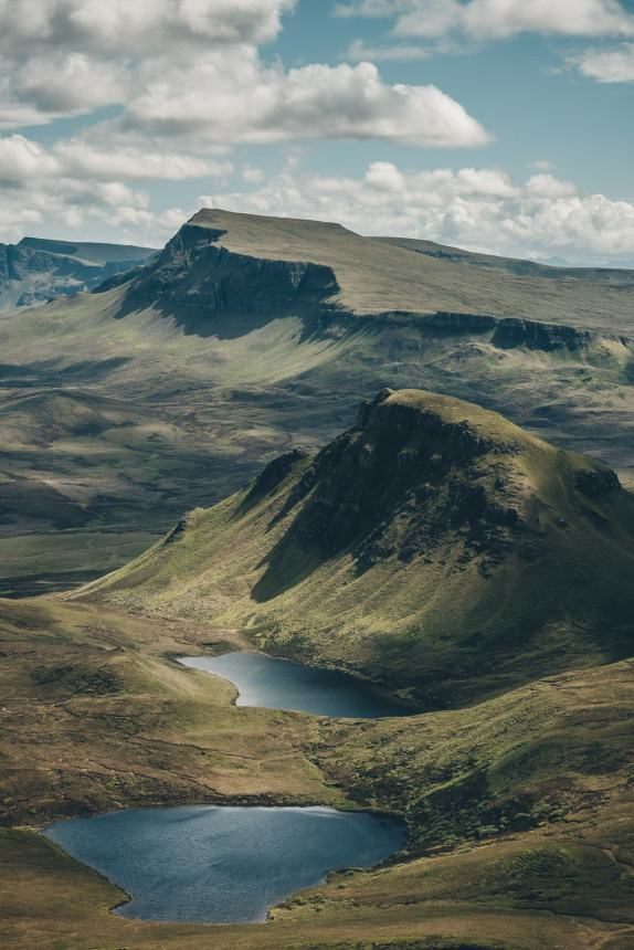 Isle of Skye The Quiraing Lakes
