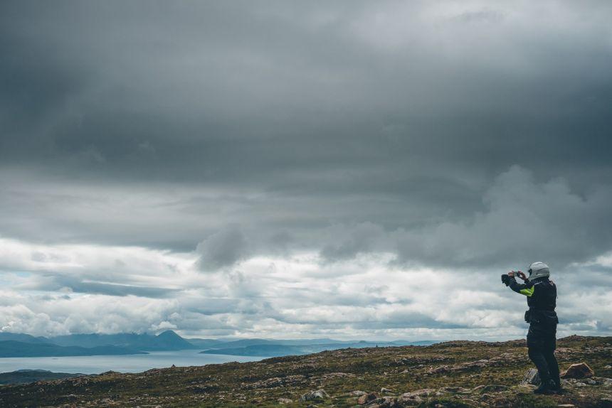 Scotland Applecross Top of Bealach na Ba