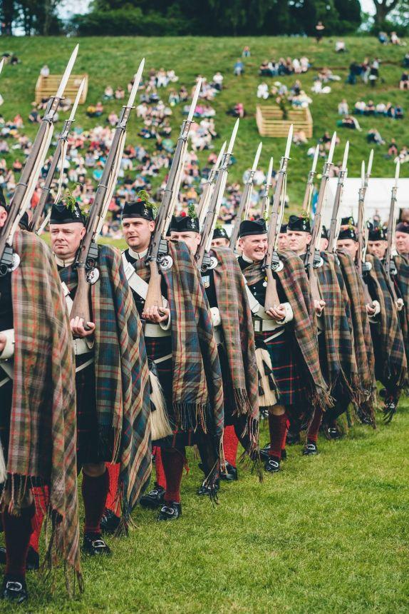 Scotland Blair Athol Highlanders Marching