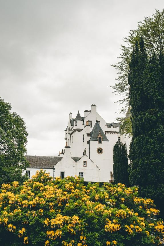 Scotland Blair Castle With Flowers