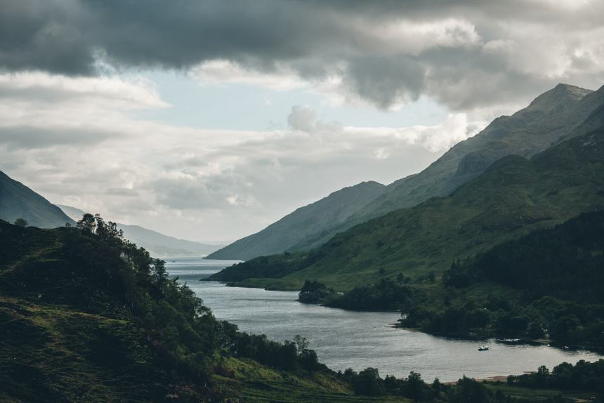 Scotland Fort William View From Glenfinnan Viaduct over Loch