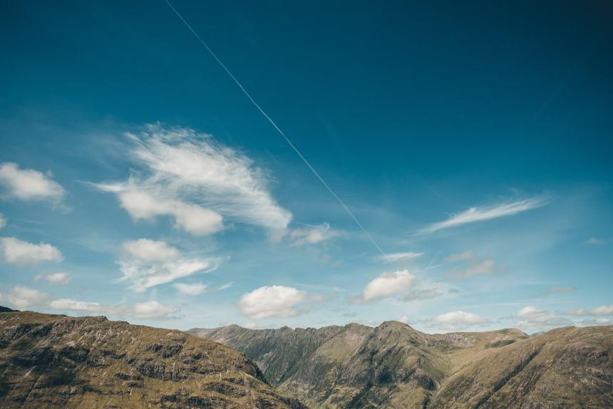 Scotland Glencoe Top of Stob Dubh View