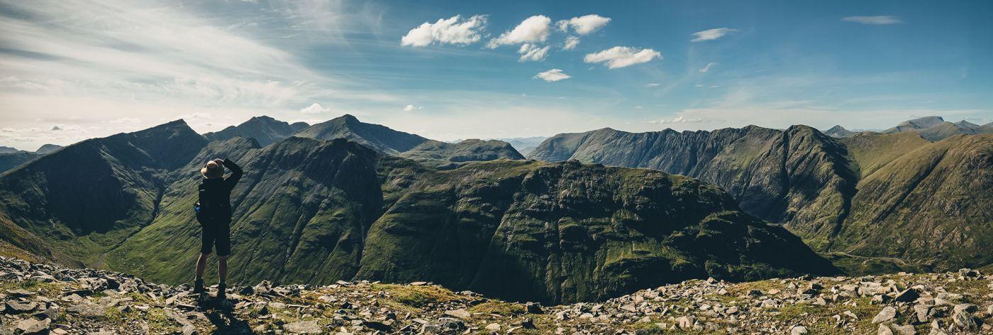 Scotland Hiking Glencoe Stu Panorama