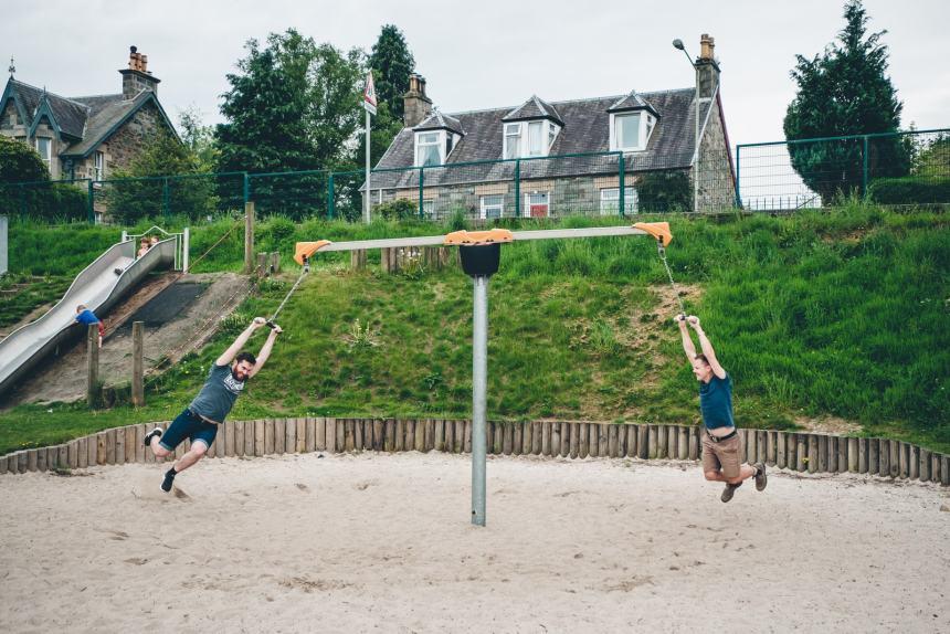 Scotland Playgorund Tim and Stu