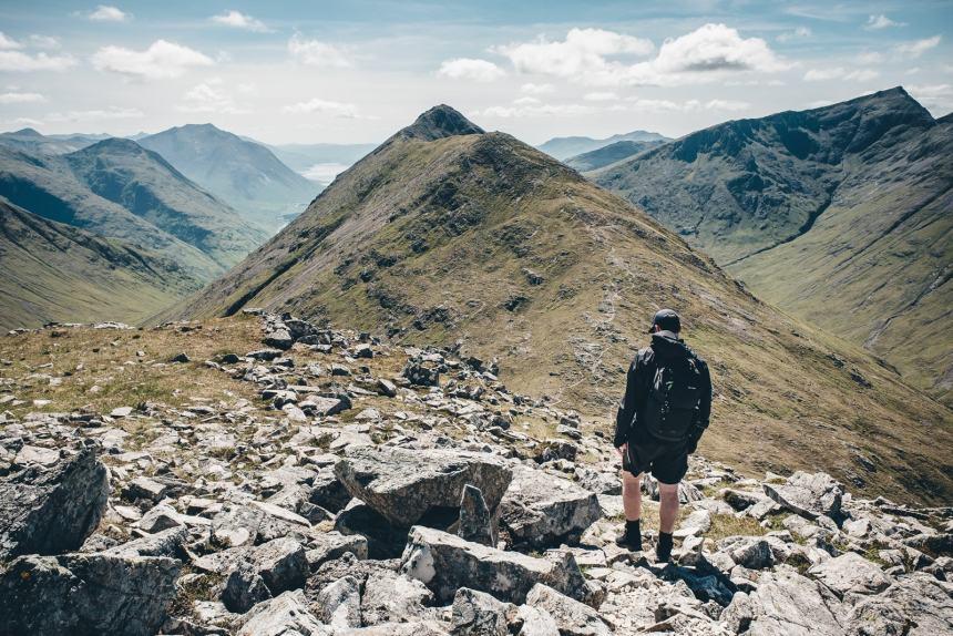 Scotland Tim Hiking Glencoe Ridgline
