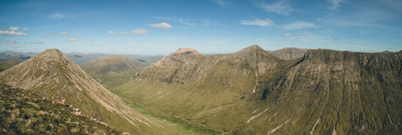 Scotland Top of Stob Dubh Panorama