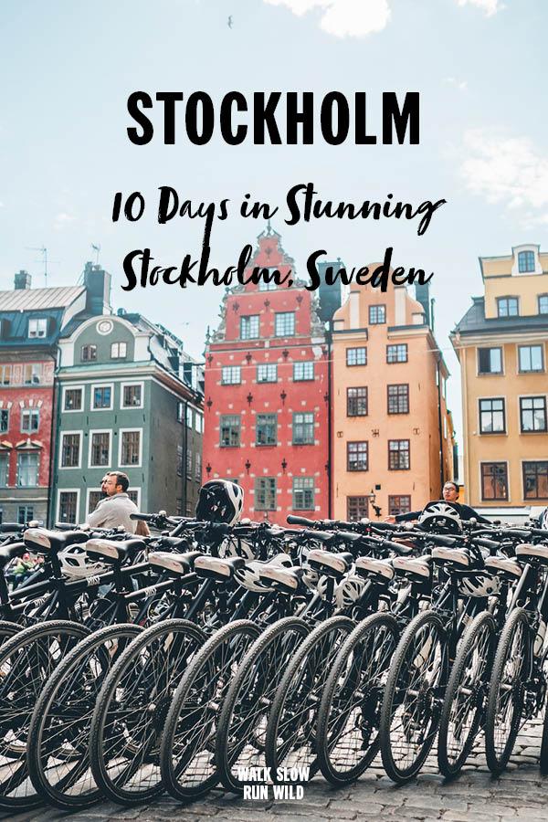 10 days in Stunning Stockholm Sweden Bikes