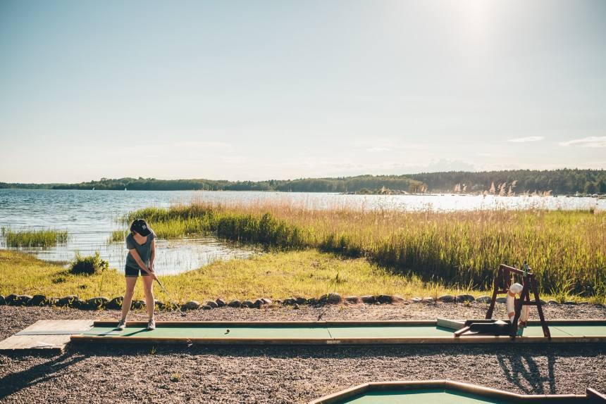 Stockholm Archipelago Dalaro Mini Golf Water View