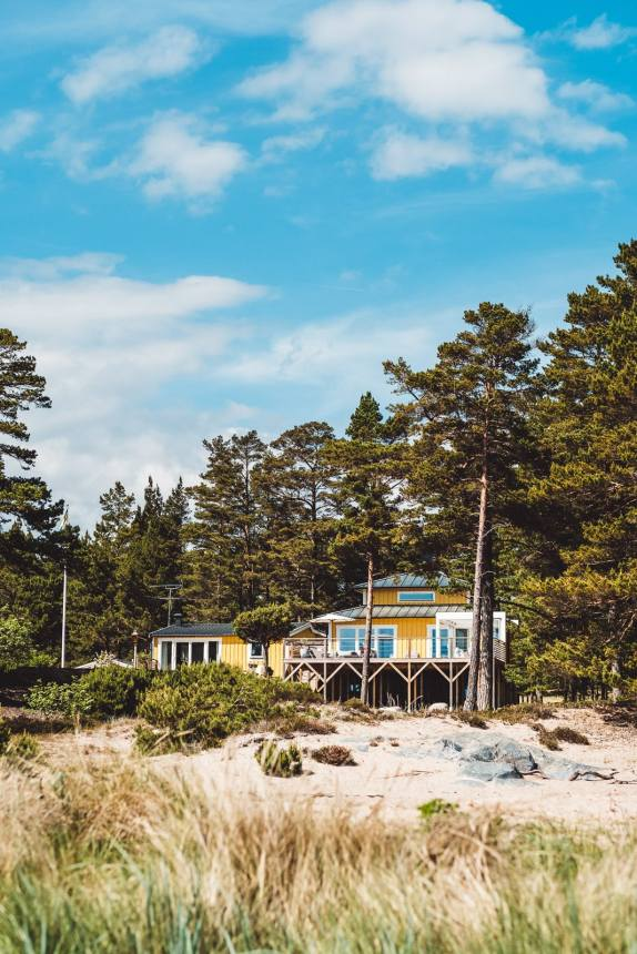 Stockholm Archipelago Sandhamn Yellow Beach House Portrait