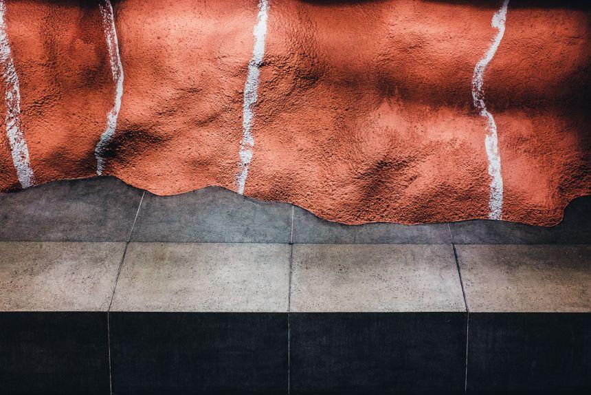 Stockholm Radhuset Metro Station Art Red Walls