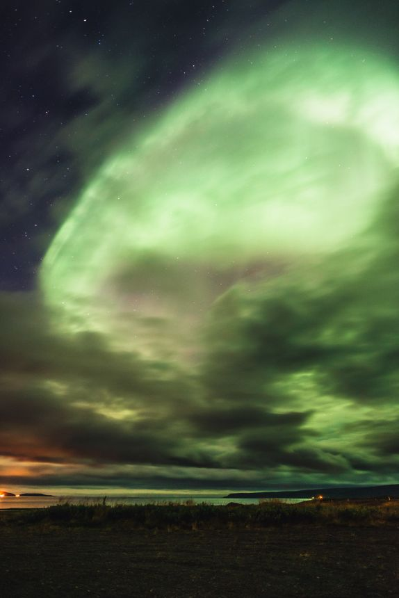 Aurora Lighting Up Entire Sky Iceland