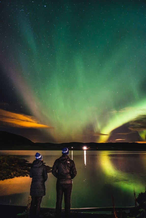 Iceland Aurora Lake People Tim Anna WSRW