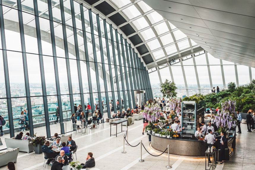 Sky Garden The Best Free Views of London and Cocktail Bar