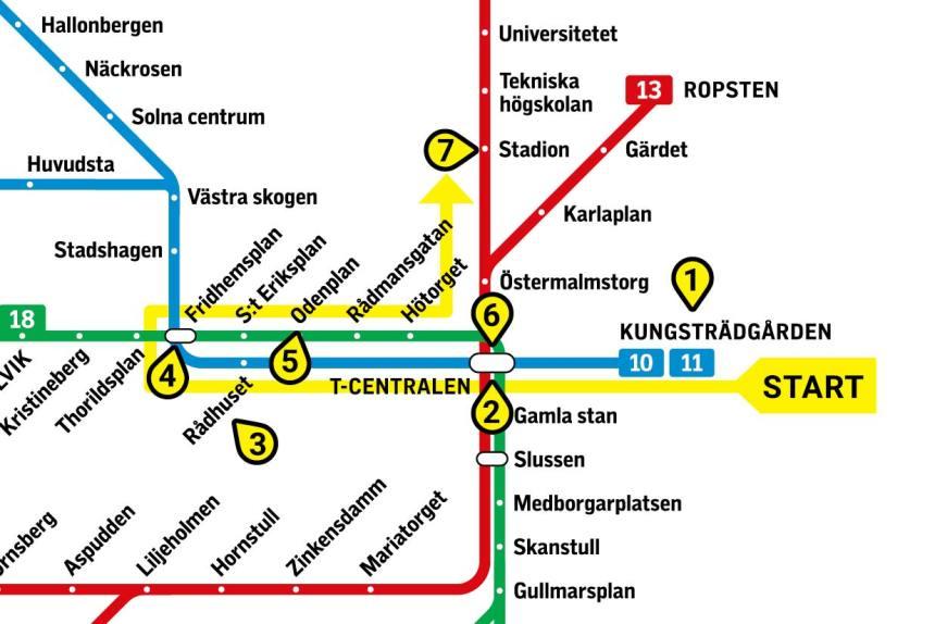 5 Most Amazing Stockholm Metro Stations Subway Art Tour Map