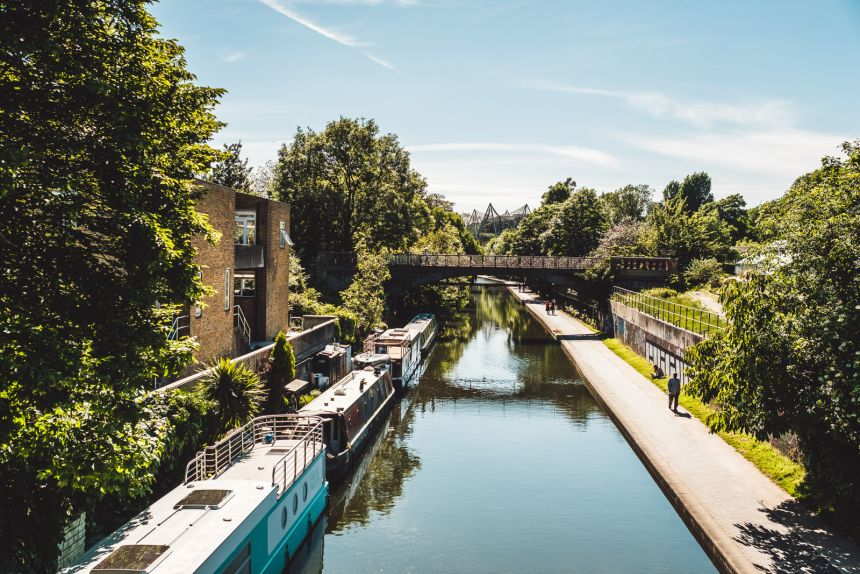 London Itinerary Beautiful View of Regents Canal