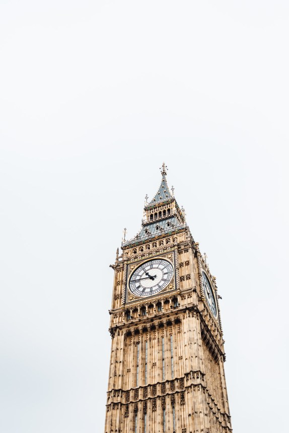 London Itinerary Big Ben Clocktower