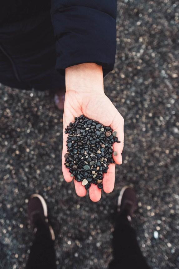 Iceland East Roadtrip Hvalnes Nature Reserve Black Pebbles