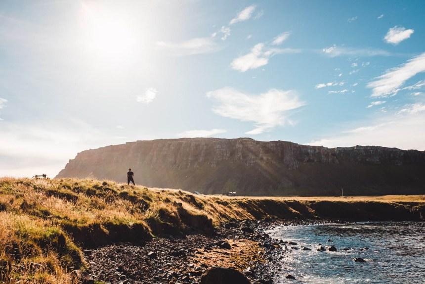 Iceland East Vattarnes Landscape Fjord Cliffs