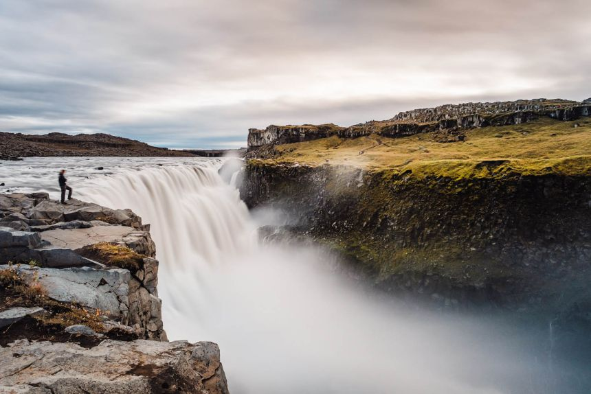Iceland North Dettifoss Landscape Lone Photographer