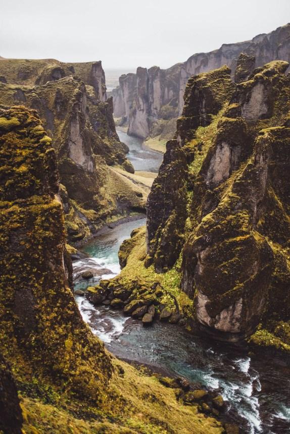 Iceland South Fja∂rargljufur Portrait Curvy River 2