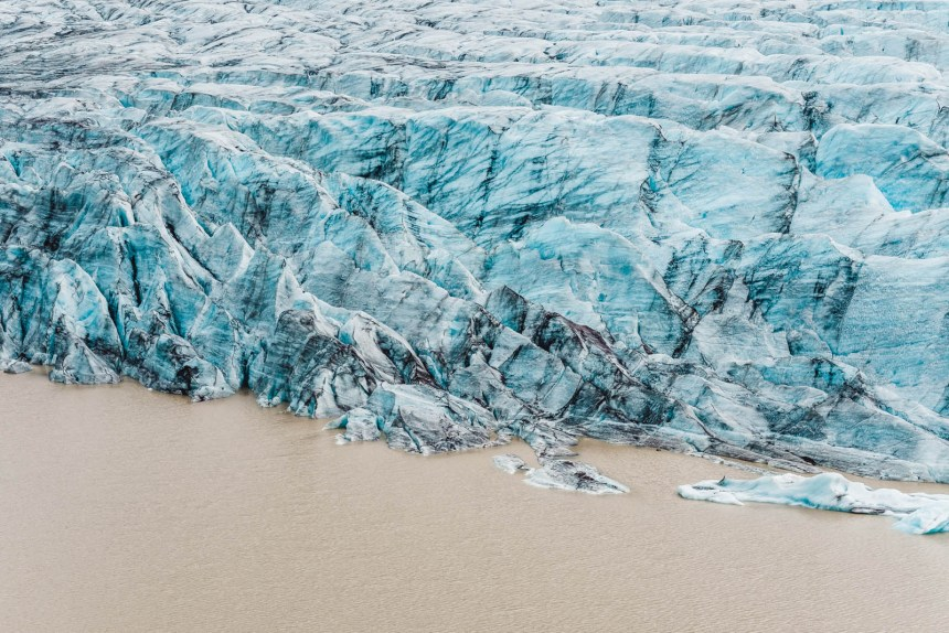 Iceland South Svinafellsjokull Glacier Water