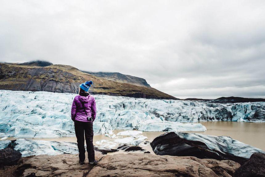 Iceland South Svinafellsjokull Landscape Viewing