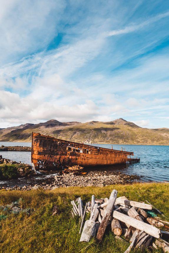 Iceland Westfjords Djupavik Boat Rusty