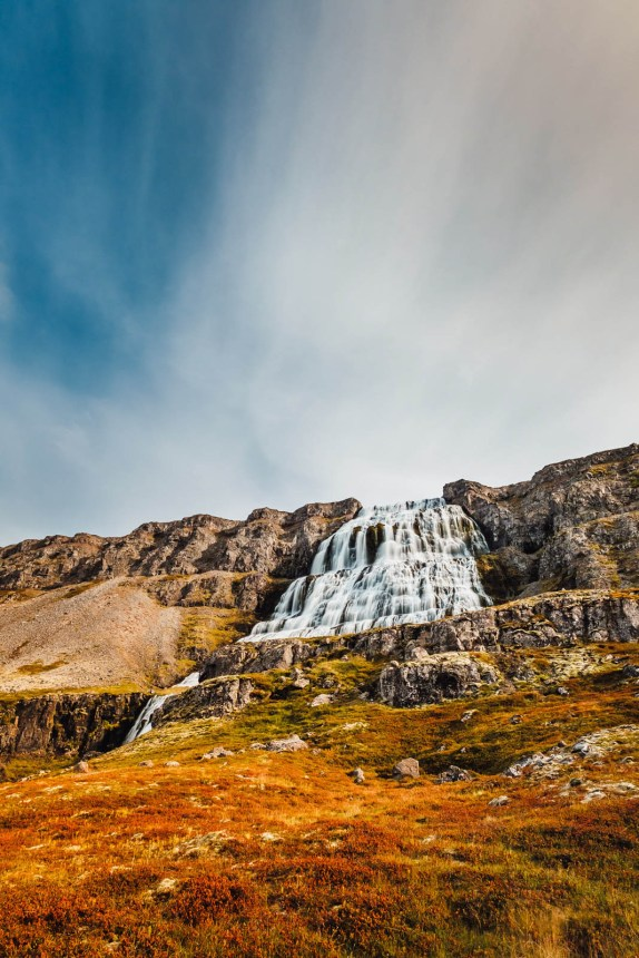 Iceland Westfjords Dynjandi Portrait Autumn Colours