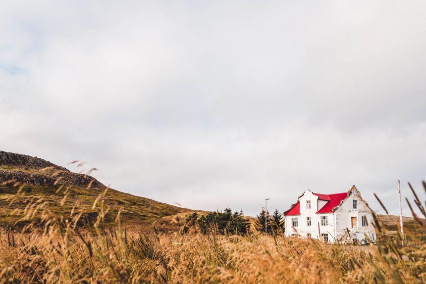 Iceland Westfjords Holmavik Airbnb Red Roof