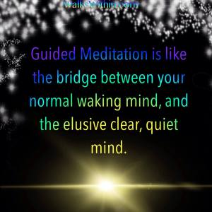 Guided Meditation is the bridge between your normal waking mind and the elusive clear, quiet mind. Guided Meditation is Perfect for beginners.