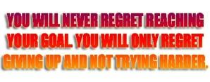 Regret Giving Up