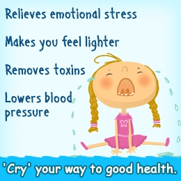 cry to relieve stress
