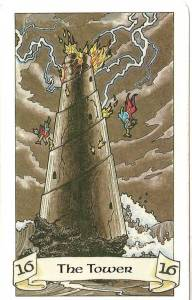 The Tower, from The Robin Wood Tarot