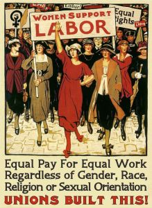 Women support labor