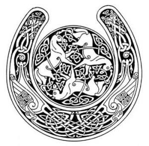 celtic horse horseshoe