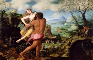 The Rape of Persephone (Enlèvement de Proserpine d'après) by Creator: Alessandro Allori [Public domain], via Wikimedia Commons
