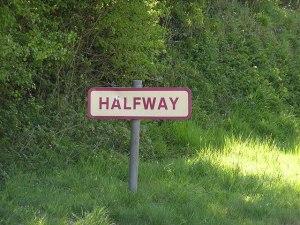 Halfway sign