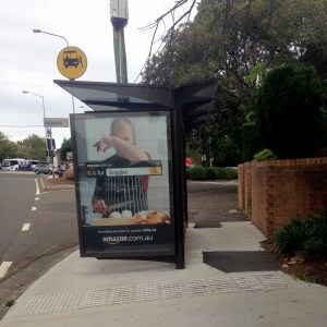 Poorly placed bus shelter