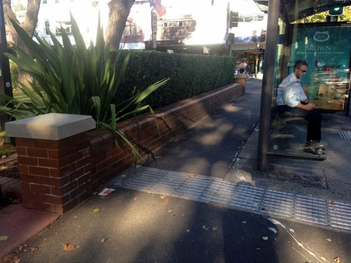 Bus stop on Foveaux St