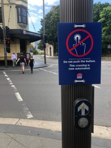 To limit the spread of Coronavirus Do not push the button. This crossing is now automated NSW Government.